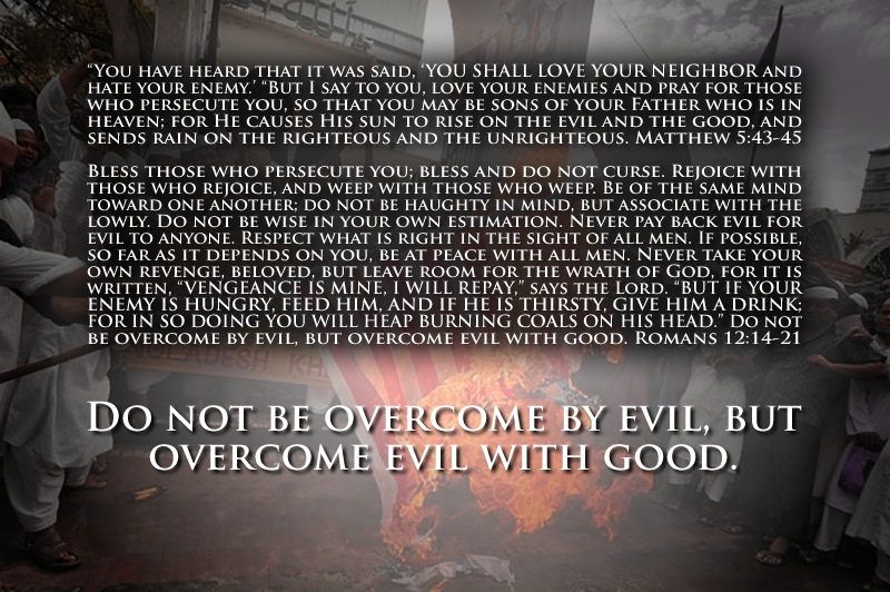 pray for our enemy Romans 12 14-21
